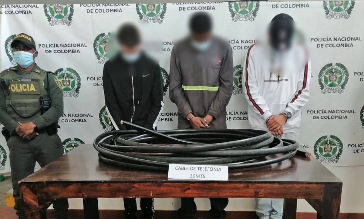 Capturados por robar cable de telefonía en Támesis