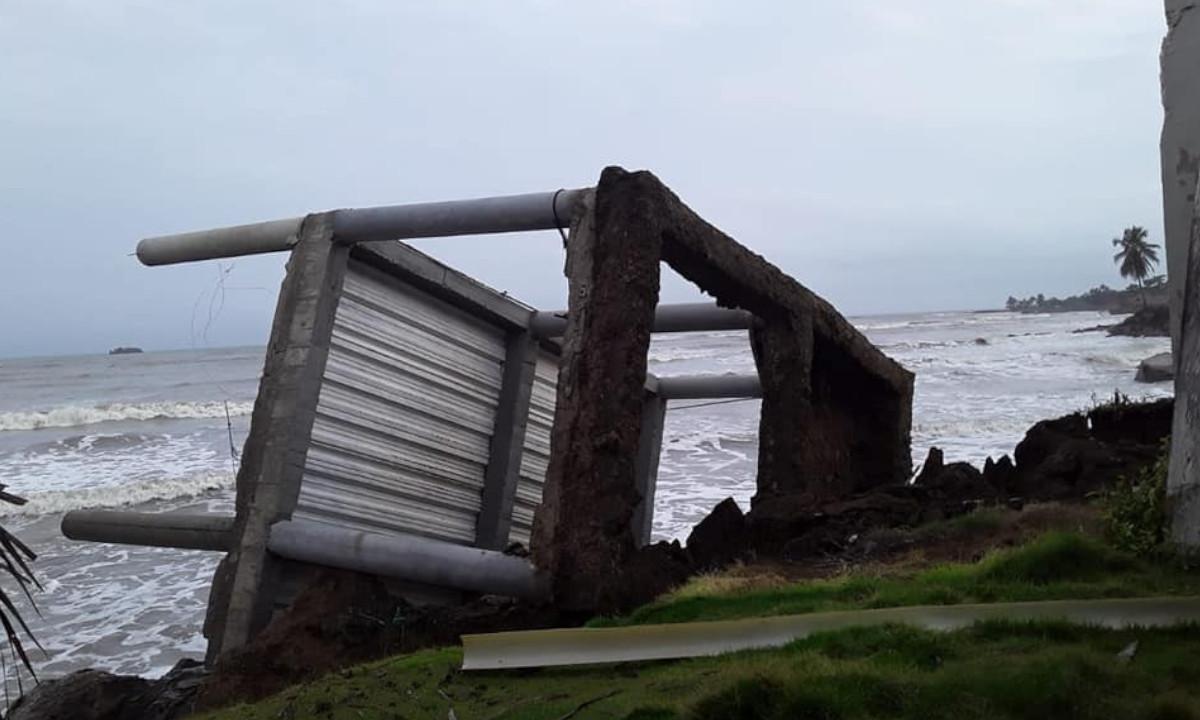 ¡Lamentable! Una vivienda destruida por erosión marina en Arboletes, Antioquia