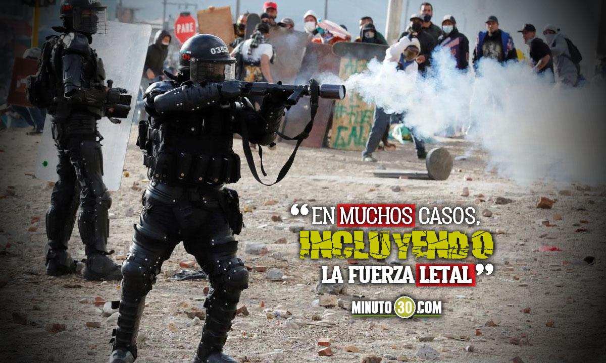 """CIDH constató """"uso excesivo de la fuerza"""" en protestas"""