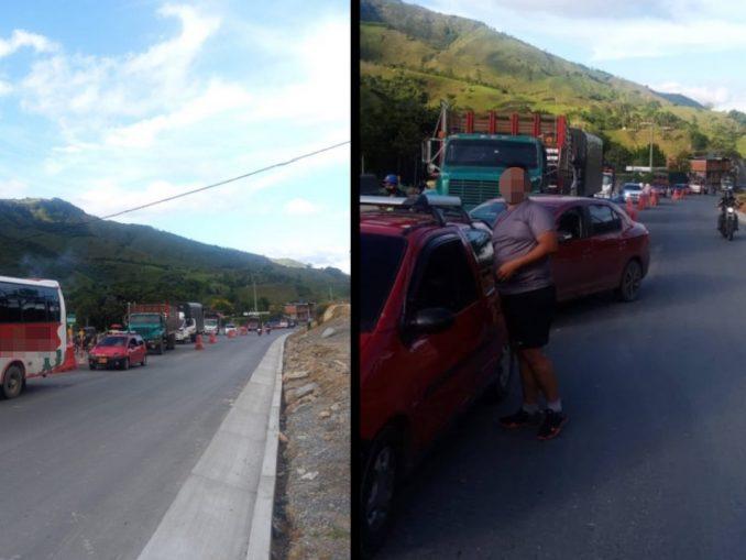 Denuncian que en la vía Cisneros - San Roque no hay paso hace más de 5 horas