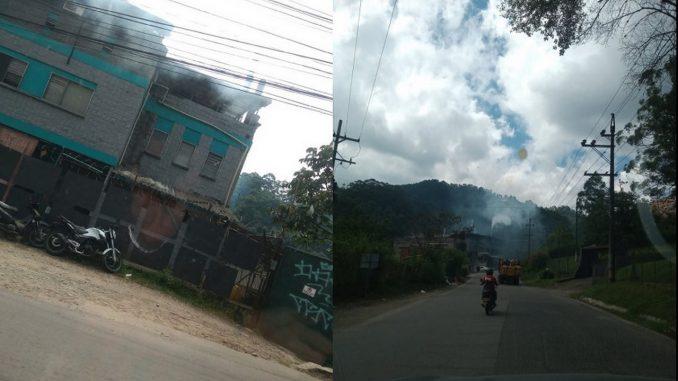 FOTOS: Contaminación en la vía vieja a Caldas