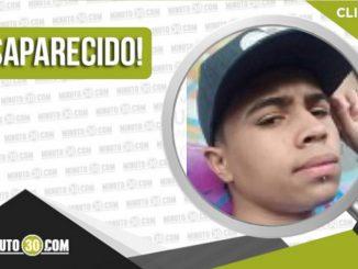 Jhonatan Stiven Duque Vélez desaparecido