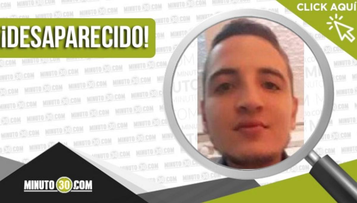Sebastián Montoya Palacio desaparecido