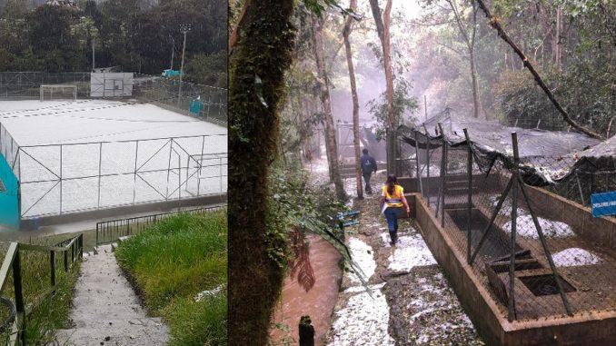 Granizada en Envigado dejó varios campesinos afectados