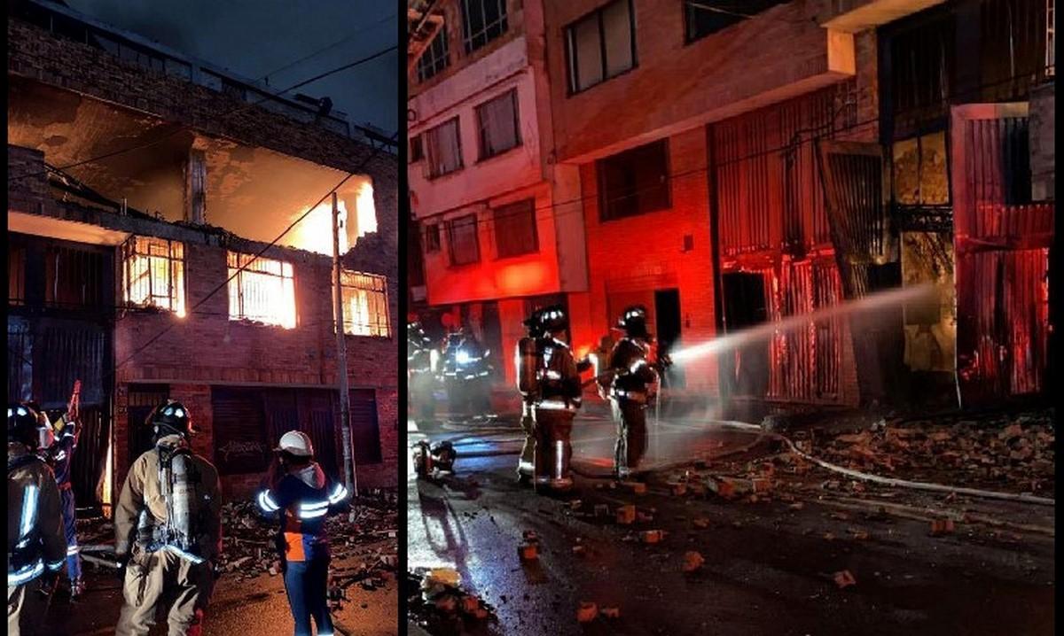Incendio en cuatro edificaciones en Bogotá