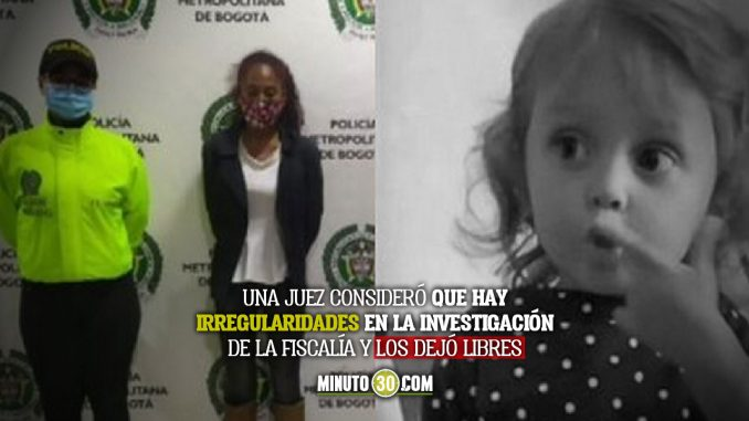 Dejaron en en libertad a la mamá de Sara Sofía y a su padrastro