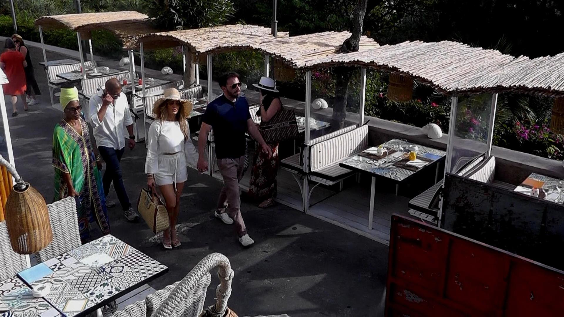jlo bel affleck isla de Capri3