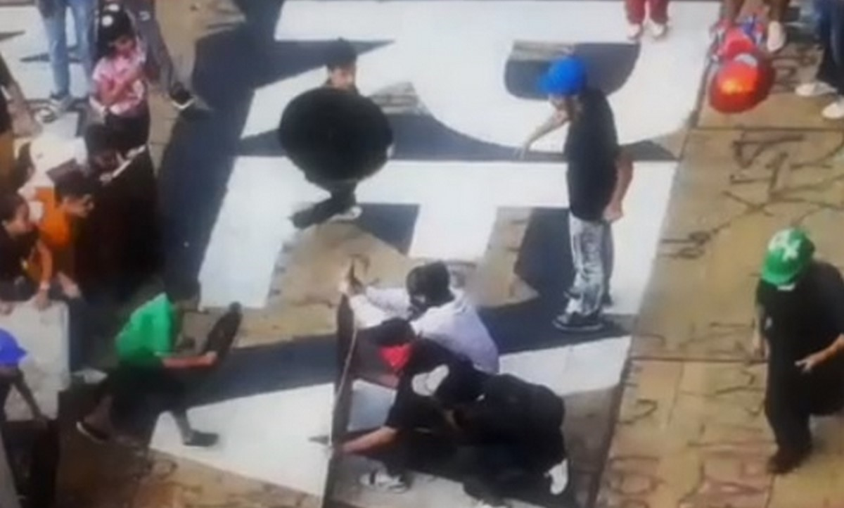 Vandalizaron cámara que captó supuesto entrenamiento a niños