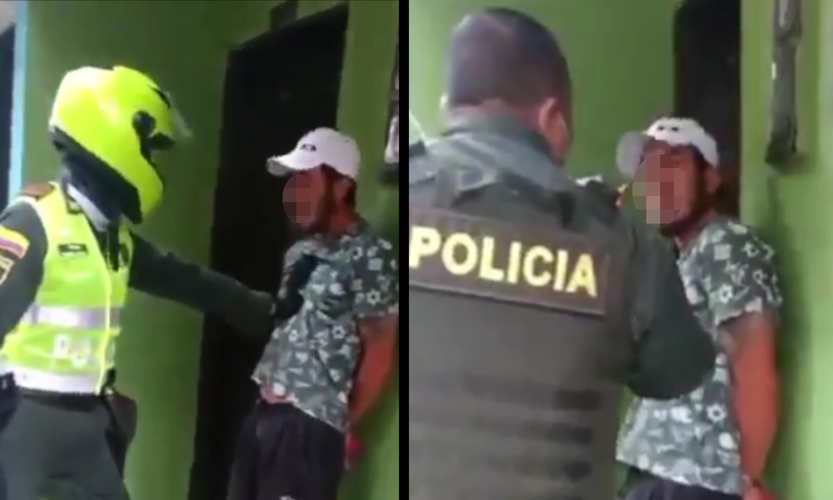 [Video] Cogieron a un hombre acusado de orinar en un local en Sabaneta, Antioquia