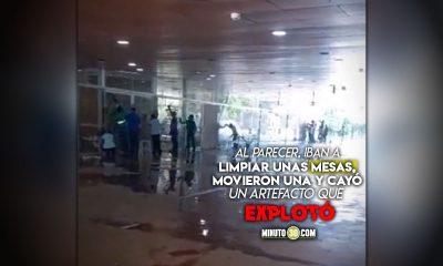 Dos heridos por explosión en el Parque de los Deseos