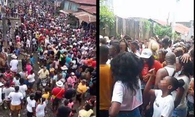[Video] ¿Se les olvidó el Covid? En pleno 'bunde' y sin los protocolos festejaron a la Virgen del Carmen en Riosucio