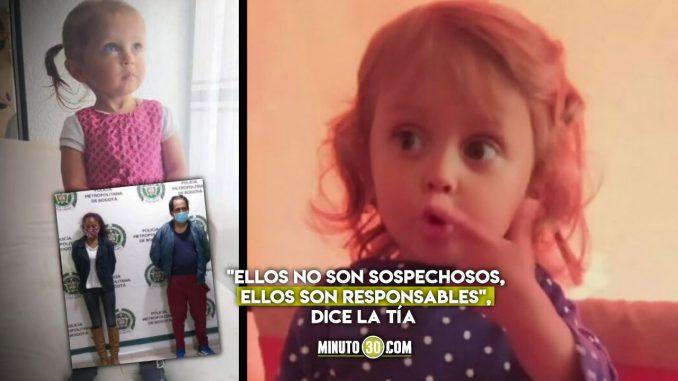 """""""La juez es una indolente que no le importan los niños"""": Tía de Sara Sofía"""