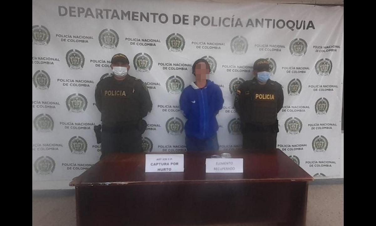 Este hombre ingresó a una finca en Marinilla para robar productos alimenticios
