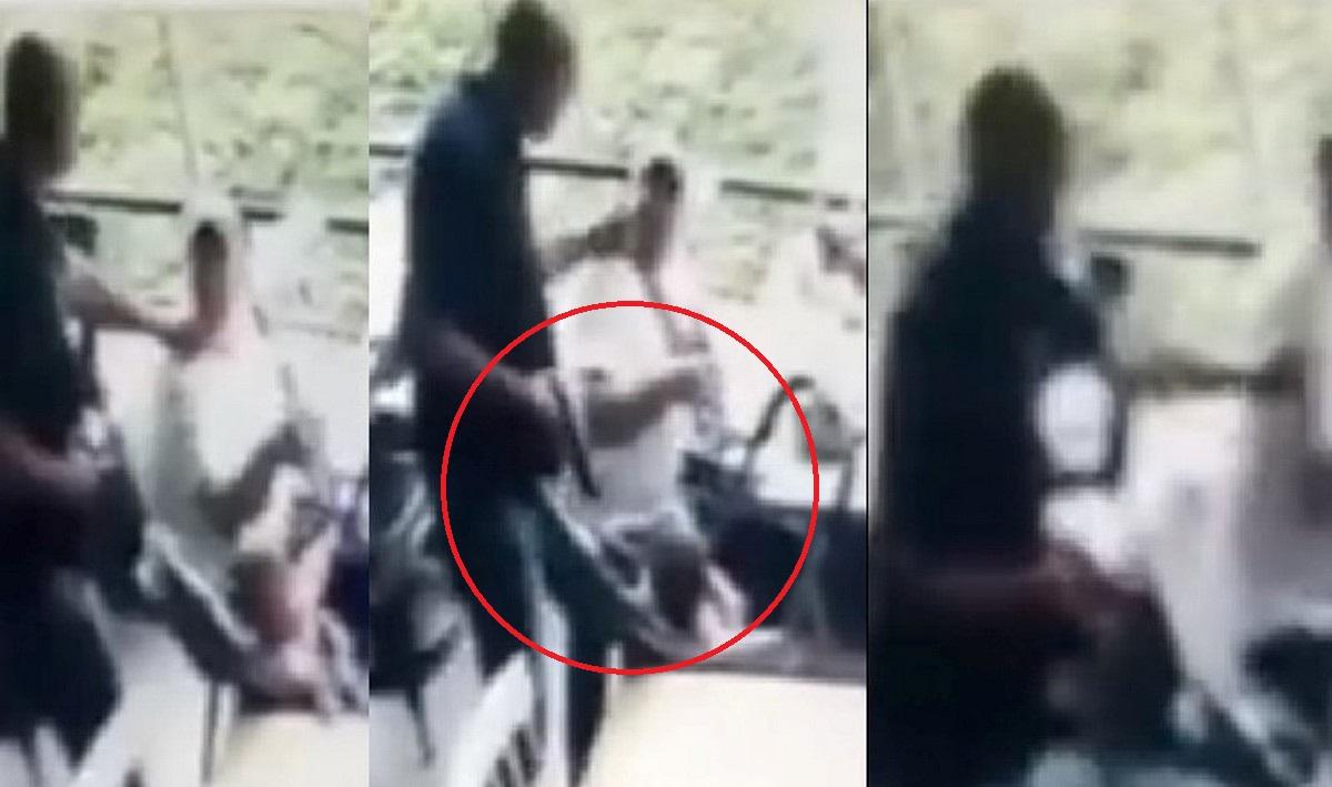 Ladrón en Medellín hasta le apuntó en la cabeza a un bebé