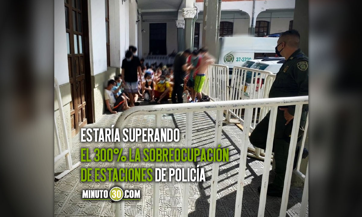 380 detenidos en estación de Policía Candelaria de Medellín