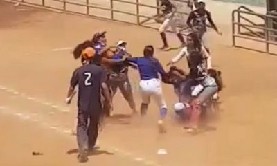Tremenda pelea entre jugadoras de softbol en Santa Marta
