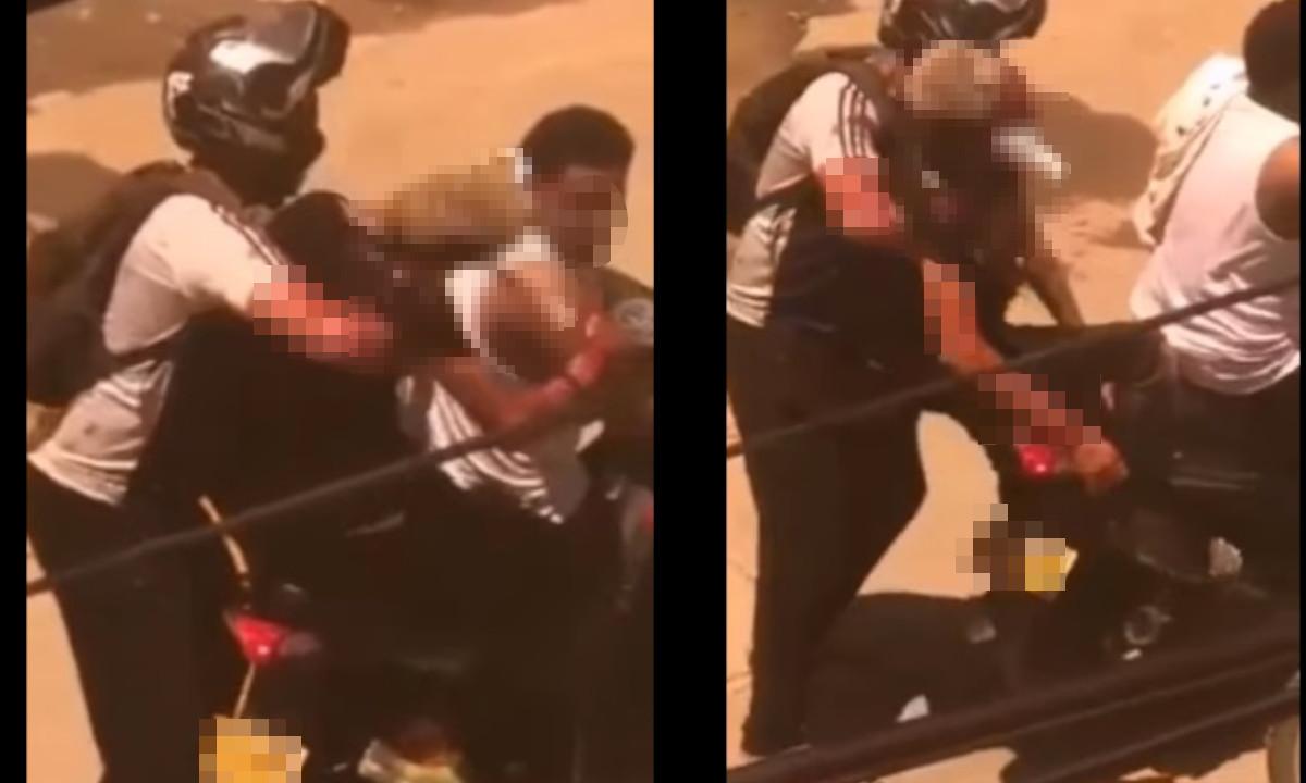 En medio de una riña un joven terminó con un cuchillo en el cráneo