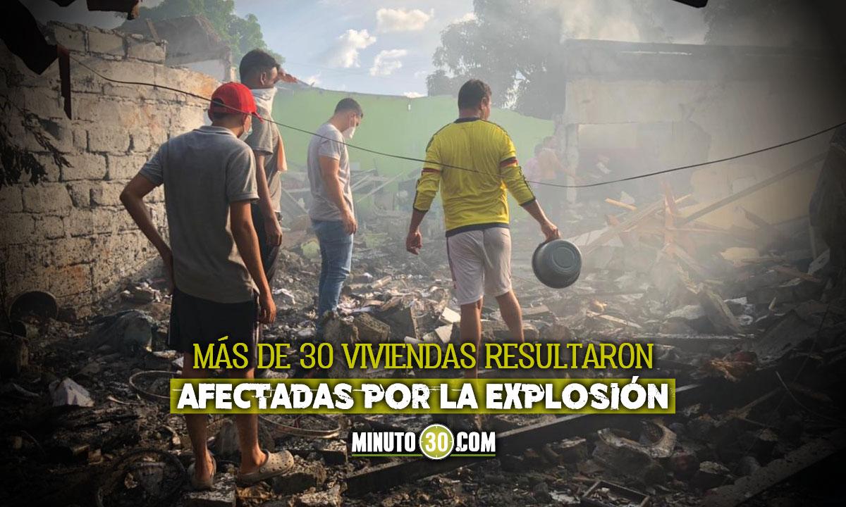 4 heridos por explosión en depósito de pólvora en Montería