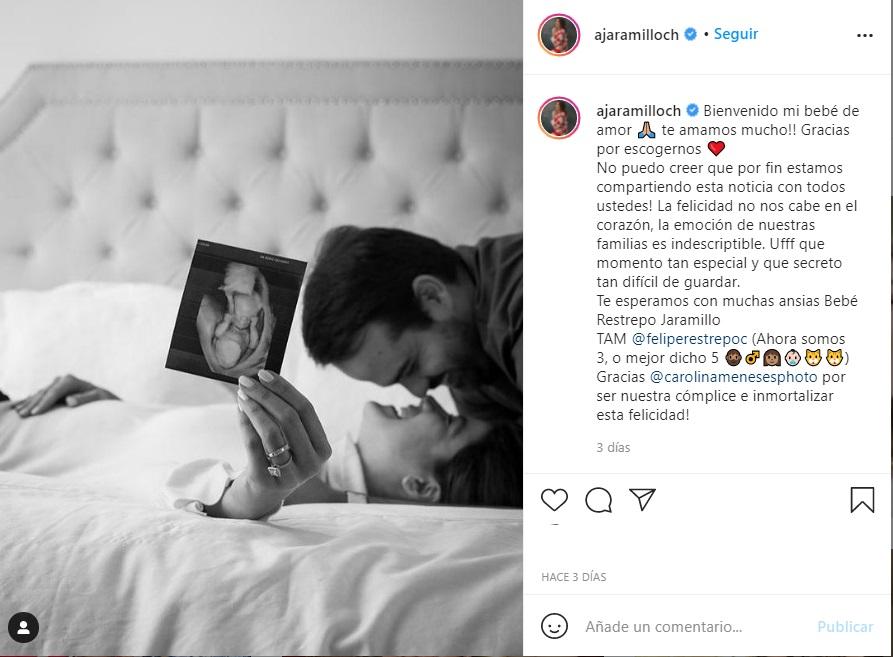 Andrea Jaramillo Char espera su primer bebe