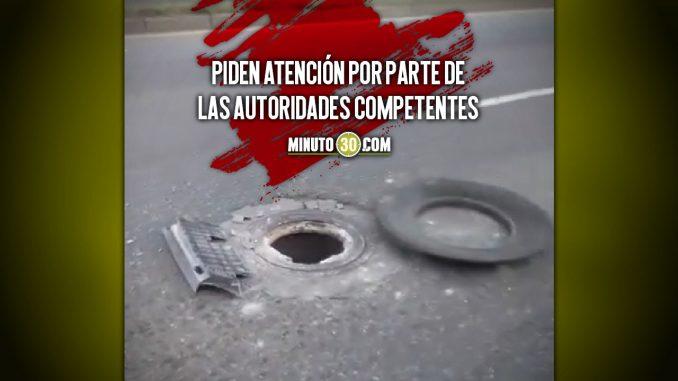 Denuncian tremendo hueco en la Regional, por la estación Acevedo