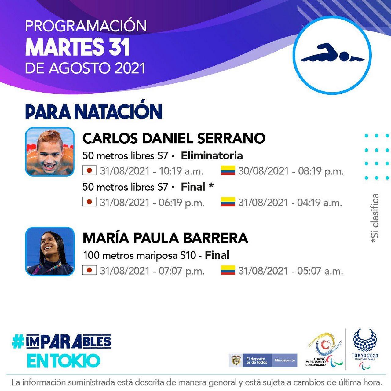 Deportistas colombianos listos para la septima jornada en Juegos Paralimpicos 3