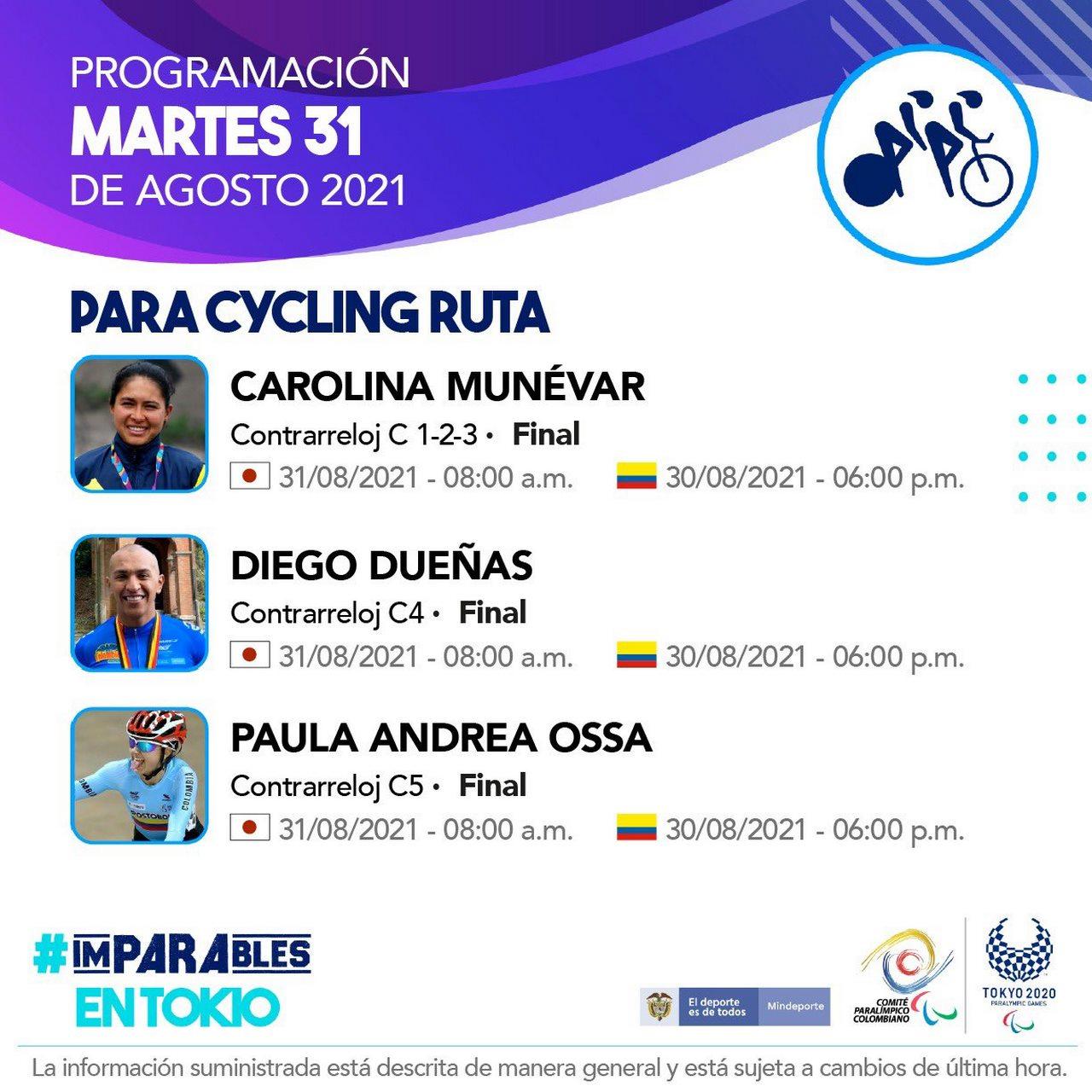 Deportistas colombianos listos para la septima jornada en Juegos Paralimpicos 4