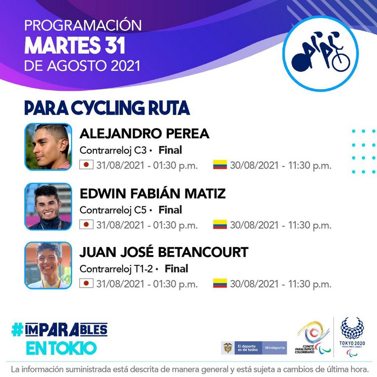 Deportistas colombianos listos para la septima jornada en Juegos Paralimpicos 5