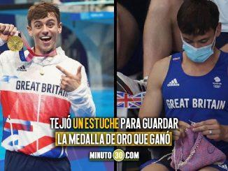 El medallista olímpico Tom Daley, en una final sacó sus agujas y se puso a tejer