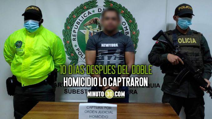 Encarcelaron a un sujeto acusado de asesinar a dos hermanos en Betulia, Antioquia