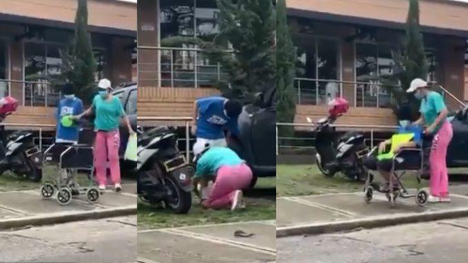 ¡Indignante! La pillaron disfrazando a su supuesta hija para pedir limosna