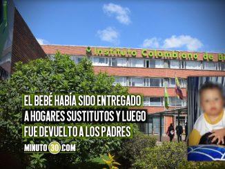ICBF explicó por qué devolvió el bebé que murió en Medellín por maltrato a sus padres