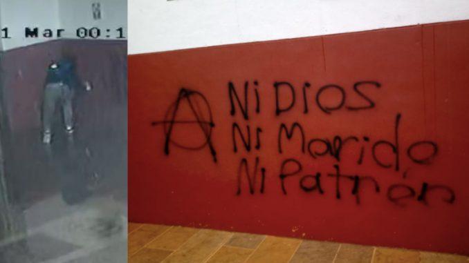 Indignación en La Unión porque 'grafitearon' la Iglesia principal