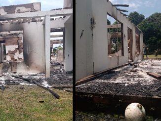 [Fotos] Un rayo habría ocasionado un incendio que consumió una vivienda en el Chocó