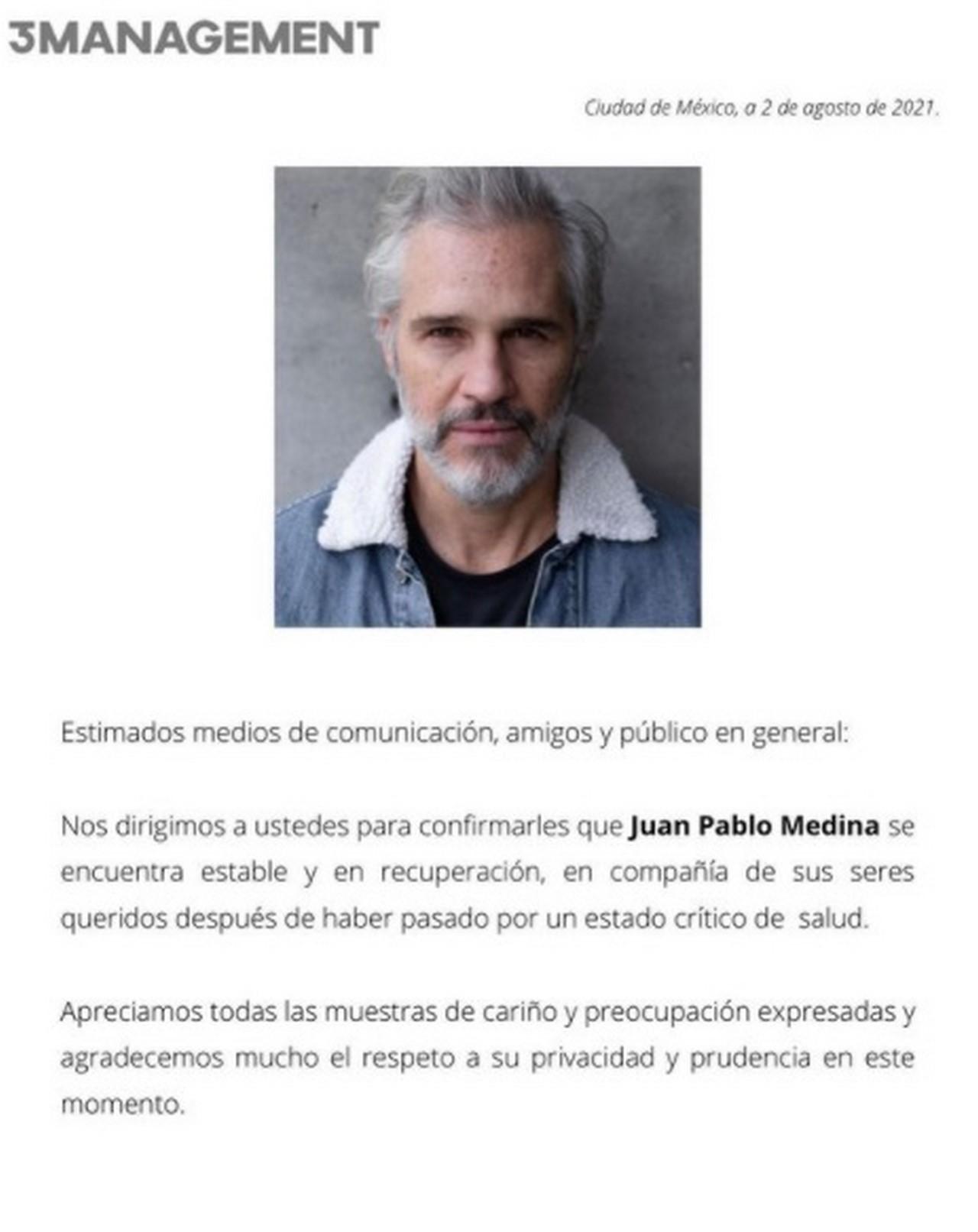 Juan Pablo Medina pierde una pierna