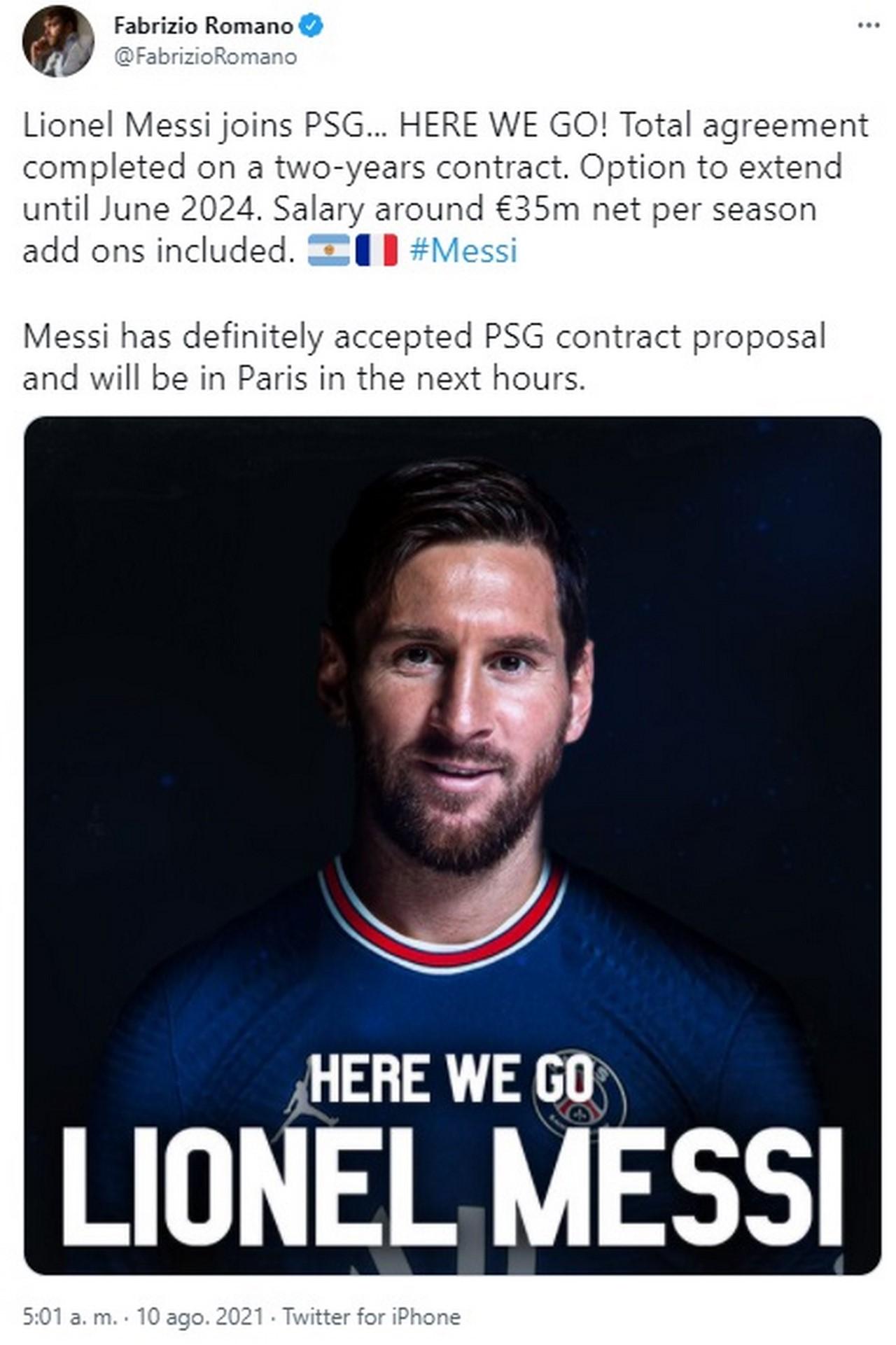LIONEL MESSI paga PARIS SAINT GERMAIN