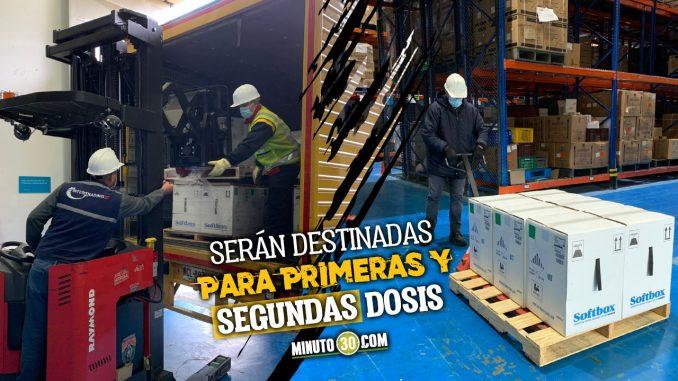 Llegaron a Colombia 620.100 nuevas dosis de Pfizer