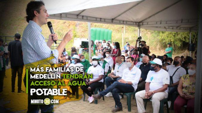 Llevarán agua y alcantarillado a 371 familias de Medellín