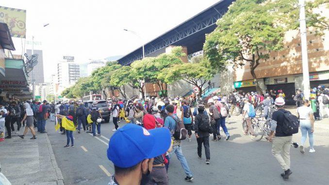 Balance preliminar de las manifestaciones de hoy en Medellín