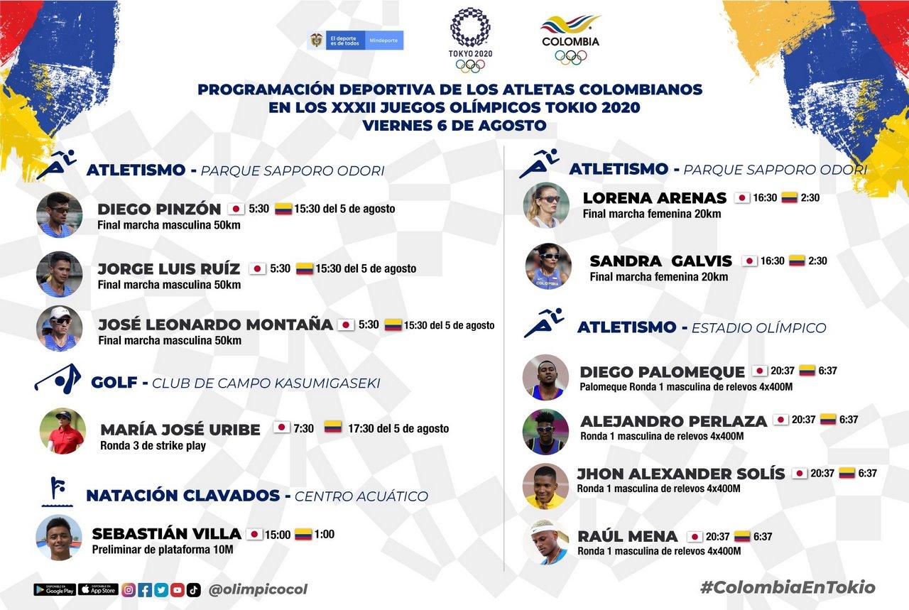 Muchos deportistas colombianos estaran en accion en decimocuarta jornada de Olimpicos