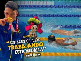 Nelson Crispin compartio la felicidad por el oro que logro en los Juegos Paralimpicos 2020