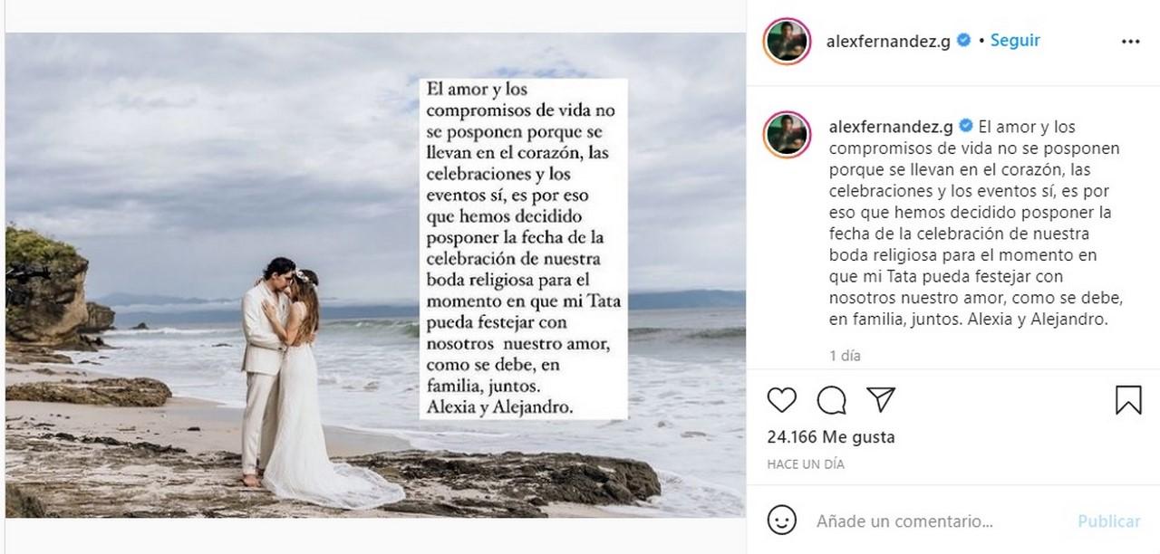 Nieto de Vicente Fernandez suspende boda