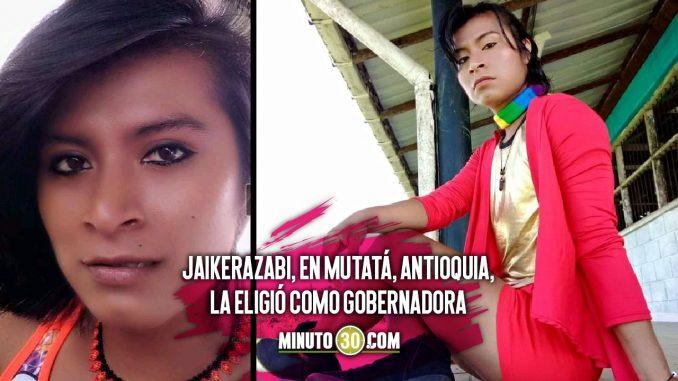 Nil Bailarín es la primera gobernadora indígena LGBTIQ+ en Antioquia