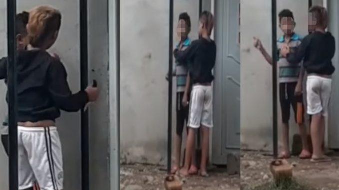 [Video] Niño venezolano intentó atracar a otro menor, lo amenazó con navaja en mano