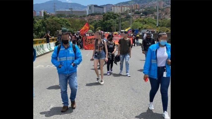Investigan a miembros del Esmad por supuestas agresiones a funcionarios de la Personería de Medellín durante las protestas