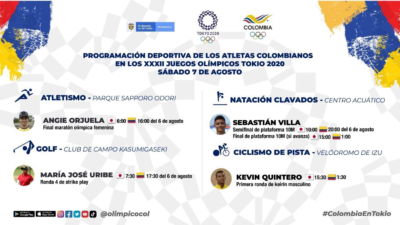 Programacion Colombia Olimpicos