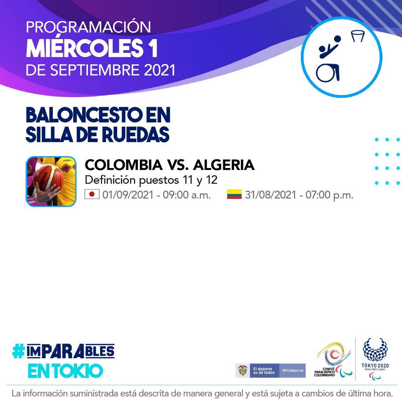 Programacion deportistas colombianos en la octava jornada de los Juegos Paralimpicos 6