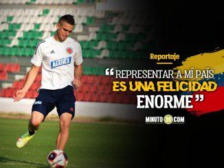 Rafael Santos Borre feliz de jugar en Alemania y de regresar a la Seleccion