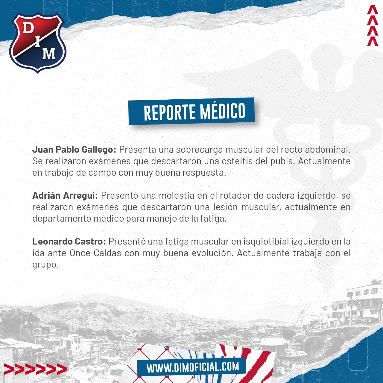 Reporte medico Medellin