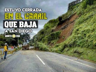 Retiran el talud de tierra que cayo en Las Palmas y habilitan la via
