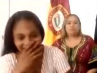[Video] La risa de la mamá de Sara Sofía al escuchar que la acusan de la desaparición de la niña